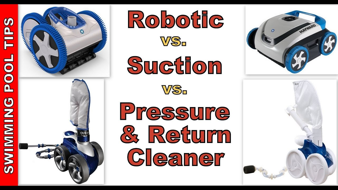 Which Pool Cleaner Is Best For My Pool Robotic Suction Pressure Or Return Side Youtube