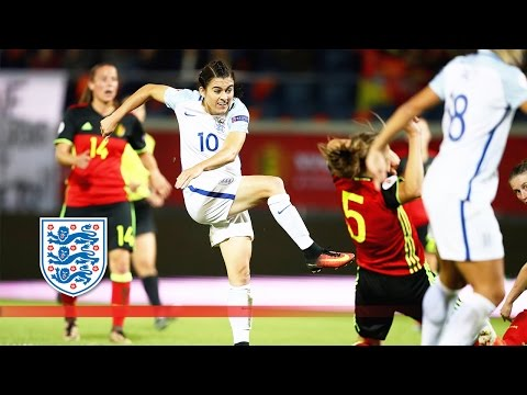 Belgium Women 0-2 England Women (Euro 2017 Qualifying) | Goals & Highlights
