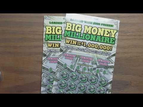 Last 2 $20 Big money millionaire. Pa lottery scratch tickets