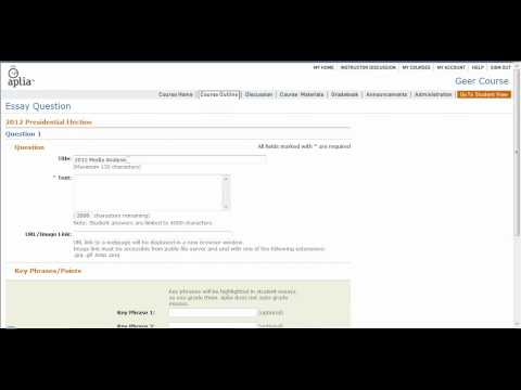Introduction to using aplia assignments