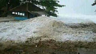 Detik-detik Tsunami Di Pangandaran Tasik Jawabrat 25 / 07 / 2018 @!!!!