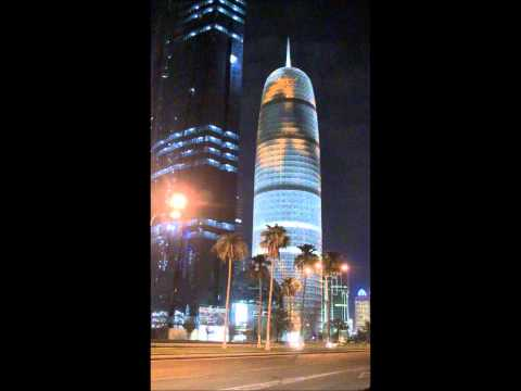 Burj Qatar (Doha Tower) Light Show
