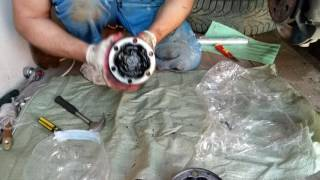Замена внутреннего  пыльника ШРУСа  Vito (Вито) 638 2.2 CDI