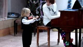 Митя Махонин - юный музыкант (3 года,10 дней), скрипка, концерт