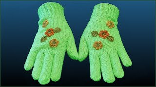 Перчатки спицами. Вязание перчаток. Как связать перчатки. Ч. 2 (gloves knitting. P. 2)