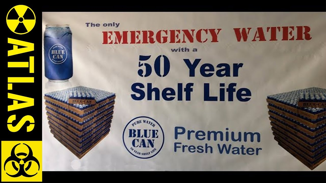 2 Cans Blue Can Emergency Survival Drinking Water 50 Year Shelf Life Free Ship
