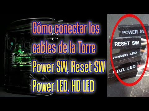 Cómo Conectar Los Cables De La Torre Power SW, Reset SW, Power LED Y HDD LED |¿Para Qué Es Cada Uno?