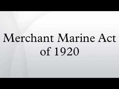 Merchant Marine Act of 1920
