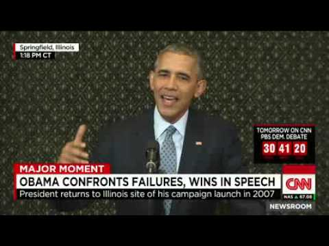 Obama; Political division worse since my election