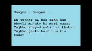 Saajna! by Falak with Lyrics