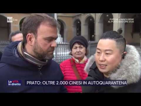 Coronavirus, boom di rientri dei cinesi a Prato - La vita in diretta 18/02/2020