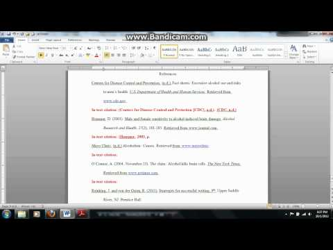 Formatting In-Text Citations in APA Style