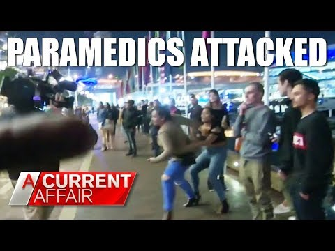 Paramedics attacked while trying to save woman's life   A Current Affair Australia 2018