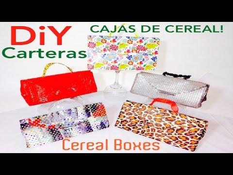 cd7a633d4 Carteras Hechas de cajas de cereal - YouTube