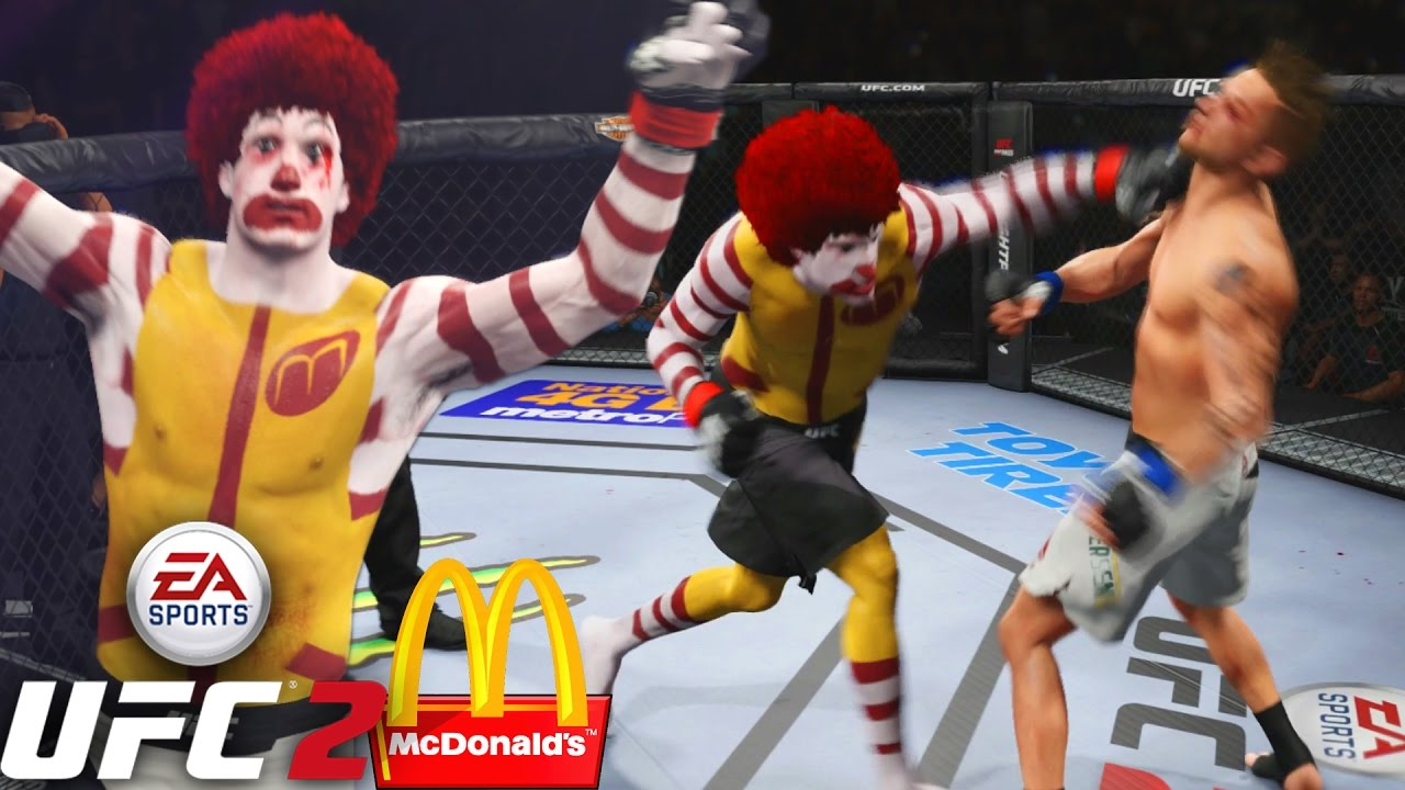 Ronald McDonald Serving These HANDS! I'm Loving It! EA Sports UFC 2 Online Gameplay - YouTube