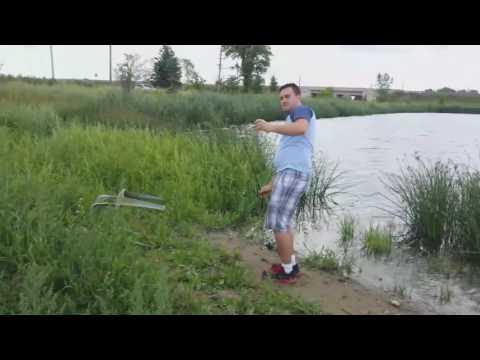 Hwy 407 ! Fishing Pickering, Ontario ( Reesor Pond )