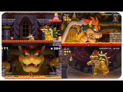 New Super Mario Bros. Series - All Bowser Final Boss Battles (2006-2013)