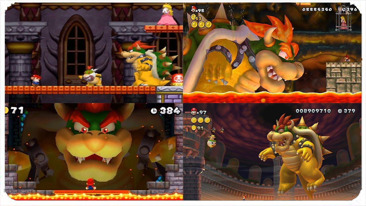 New Super Mario Bros  Series - All Bowser Final Boss Battles (2006-2013)