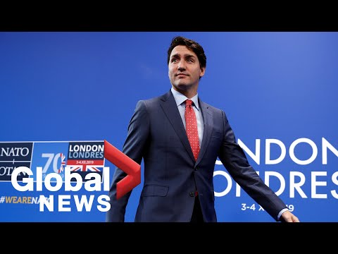 Justin Trudeau holds press conference following NATO summit