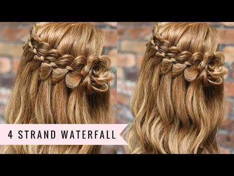 Four Strand Waterfall Braid Tutorial