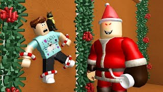 CAPTURED BY EVIL SANTA! - Roblox Flee the Facility Christmas