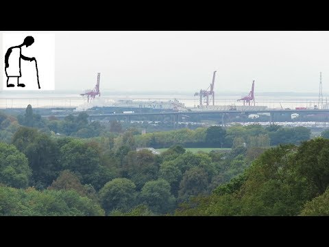Views from Sea Walls - Portbury Docks & M5 Avonmouth Bridge