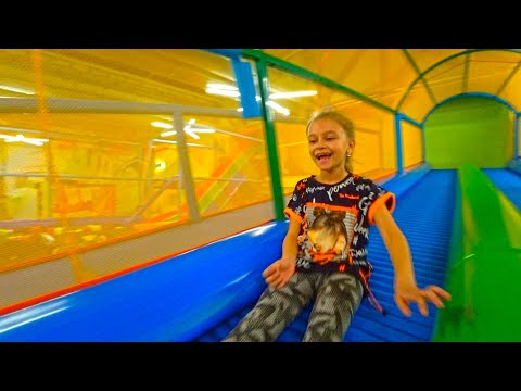 Ball pit & Interactive Trampoline - Indoor Play Area For Children | Video For Kids