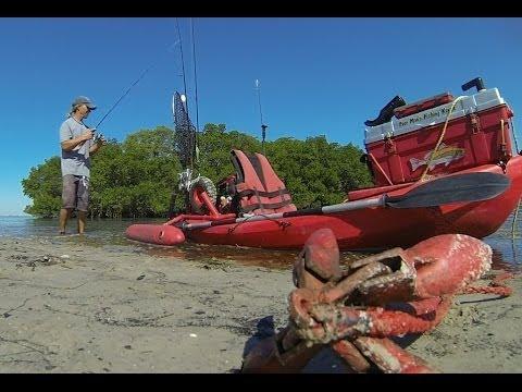 Kayak Fishing during Low Tide