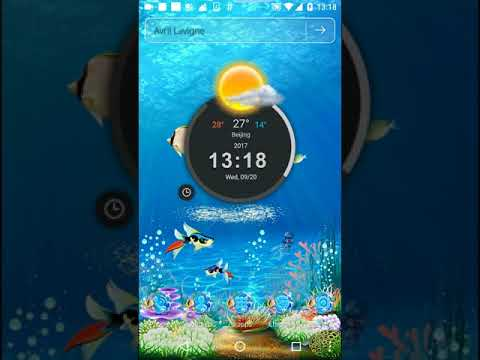 Sea Water Aquarium 3D Launcher + Live Wallpaper + Screen Lock
