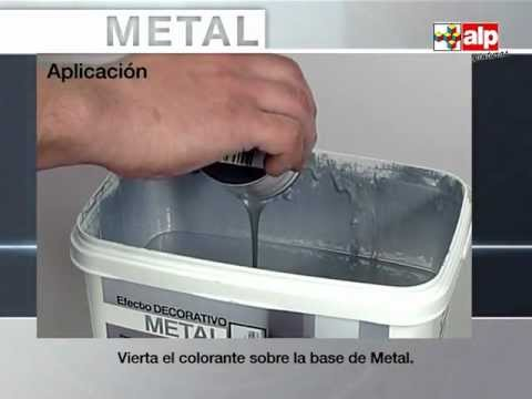 C mo pintar una pared con efecto metal youtube - Pintura metalizada pared ...