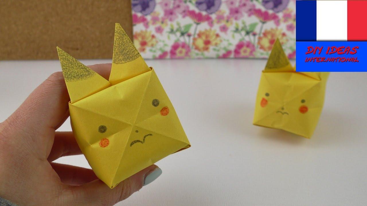 Connu Pikachu en Origami | Pokémon super mignon à plier & dessiner  GL12
