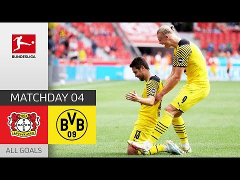 Haaland Brace brings BVB Comeback    Leverkusen - Dortmund 3-4   All Goals   MD 4 – Bundesliga 21/22