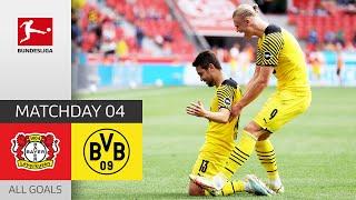 Haaland Brace brings BVB Comeback |  Leverkusen - Dortmund 3-4 | All Goals | MD 4 – Bundesliga 21/22