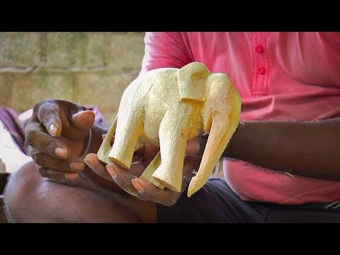 Wood Carving: Make a Wooden Elephant- DIY Handmade Wooden Elephant Statue
