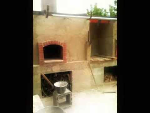 Costruzione forno a legna per pizza cupola e barbecue for Sportello per forno a legna