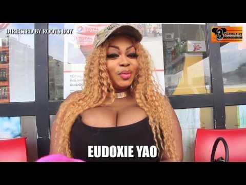 Eudoxie yao se déshabille devant la caméra