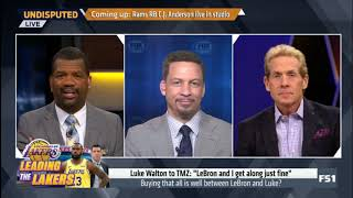 Skip, Broussard & Rob Parker STRESSES: Is there a problem between LeBron & Lakers? | Undisputed