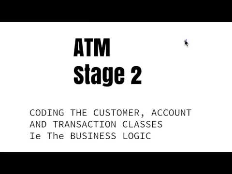 The ATM Customer Account and Transaction code explined