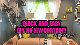DIY NO SEW CURTAINS MADE FROM SHEETS