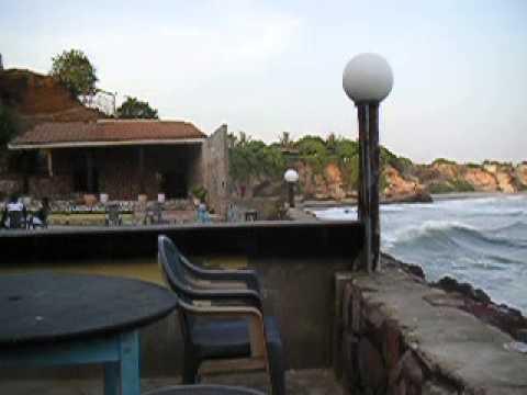 Beach Restaurant in Accra (Ghana) near Osu Castle and Ministries.