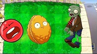 - КРАСНЫЙ ШАР НАПАЛ НА ЗОМБИ ПРОТИВ РАСТЕНИЙ Яркокрасный Шарик Plants vs zombies Red Ball 4 Мультик .