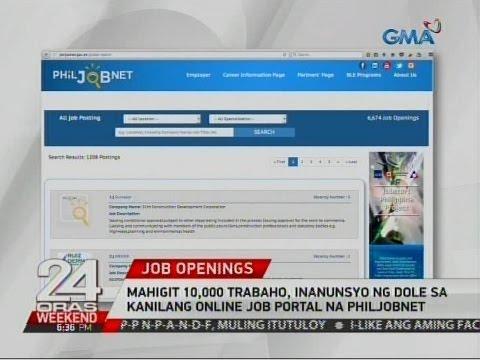 24 Oras: Mahigit 10,000 trabaho, inanunsyo ng DOLE sa kanilang online job portal na Philjobnet
