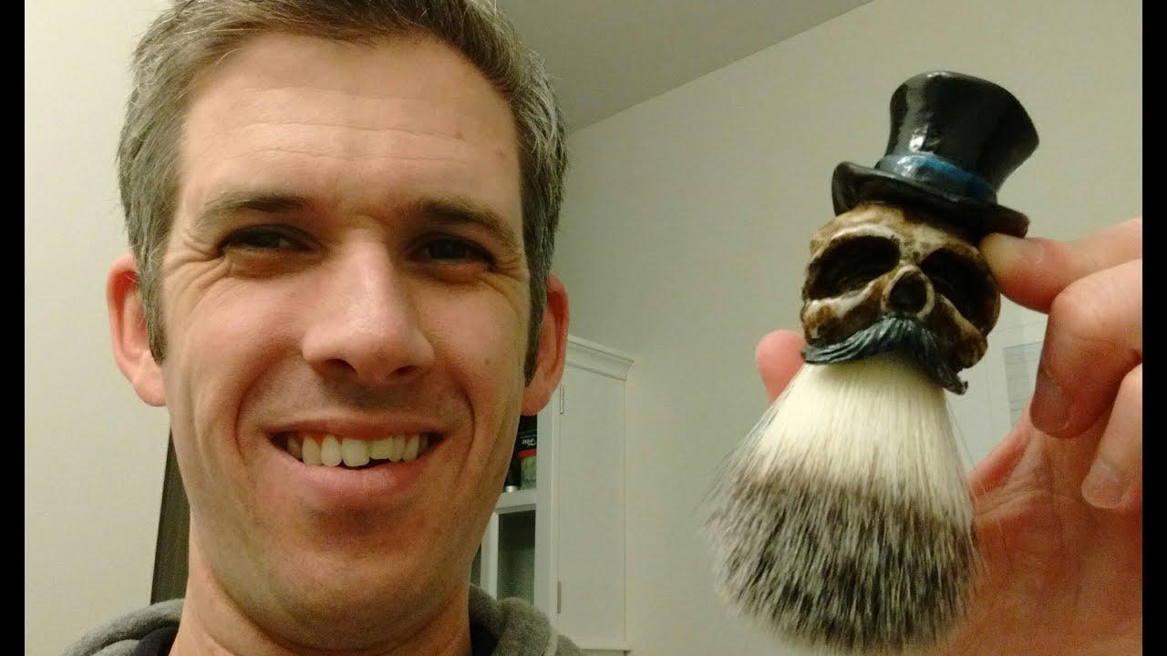 the coolest shaving brush ever the gugerart synthetic skull brush