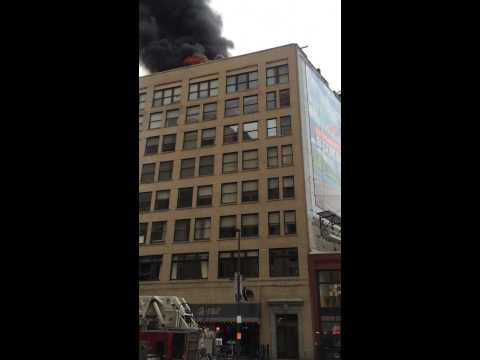 Downtown Cleveland Ohio Building fire