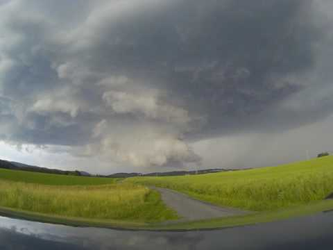 Two supercells in the Czech Republic - Sazava (Central Bohemia) 16.6. 2016  - TIMELAPSE