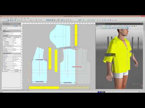 Pattern Design Software And 3d Sampling Of Industrial Clothing Youtube