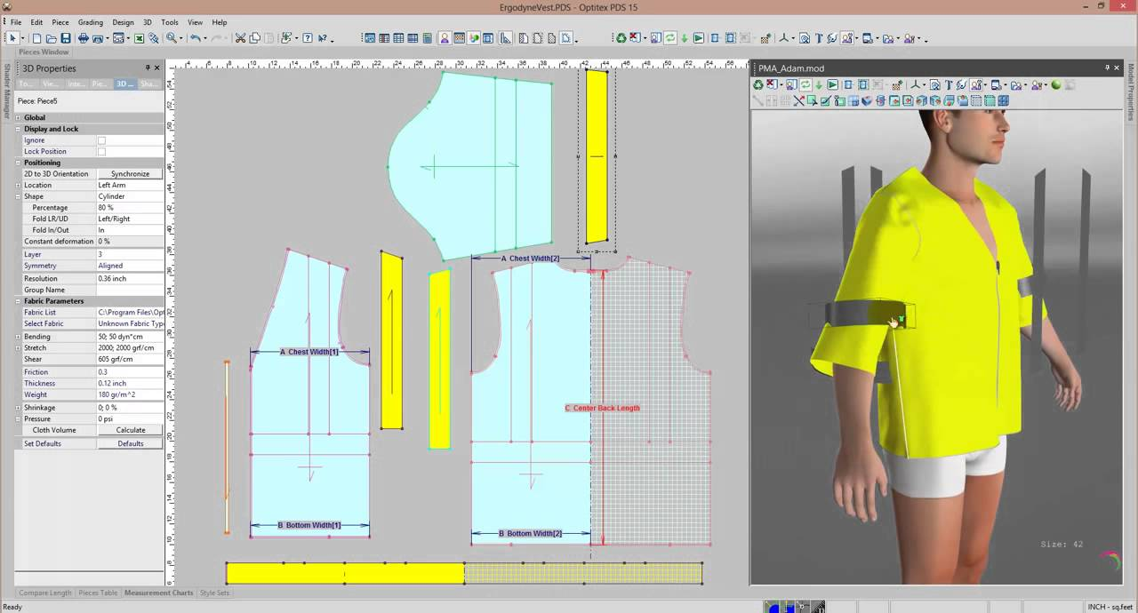 Pattern Design Software and 3D Sampling of Industrial Clothing - YouTube