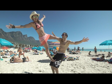 Epic Mannequin Challenge On South African Beach