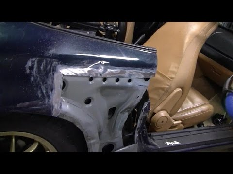 Rear Quarter Panel Amp Door Repair Part 4 Youtube