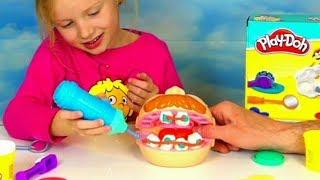 play doh alicia joue au dentiste